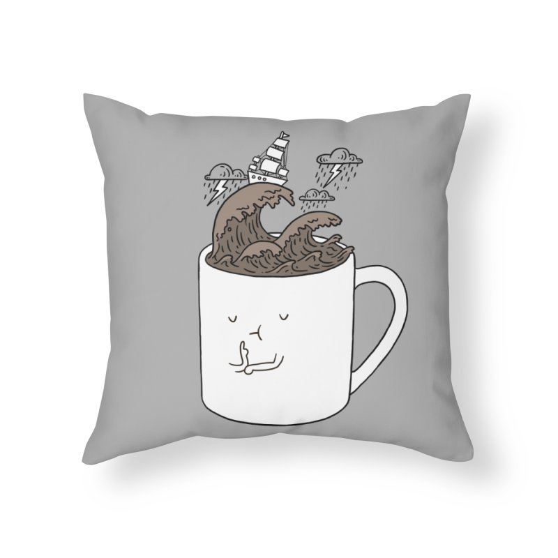 Brainstorming Coffee Mug Home Throw Pillow by ilovedoodle's Artist Shop