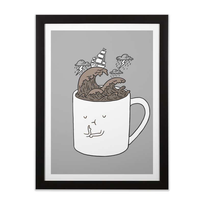 Brainstorming Coffee Mug Home Framed Fine Art Print by ilovedoodle's Artist Shop