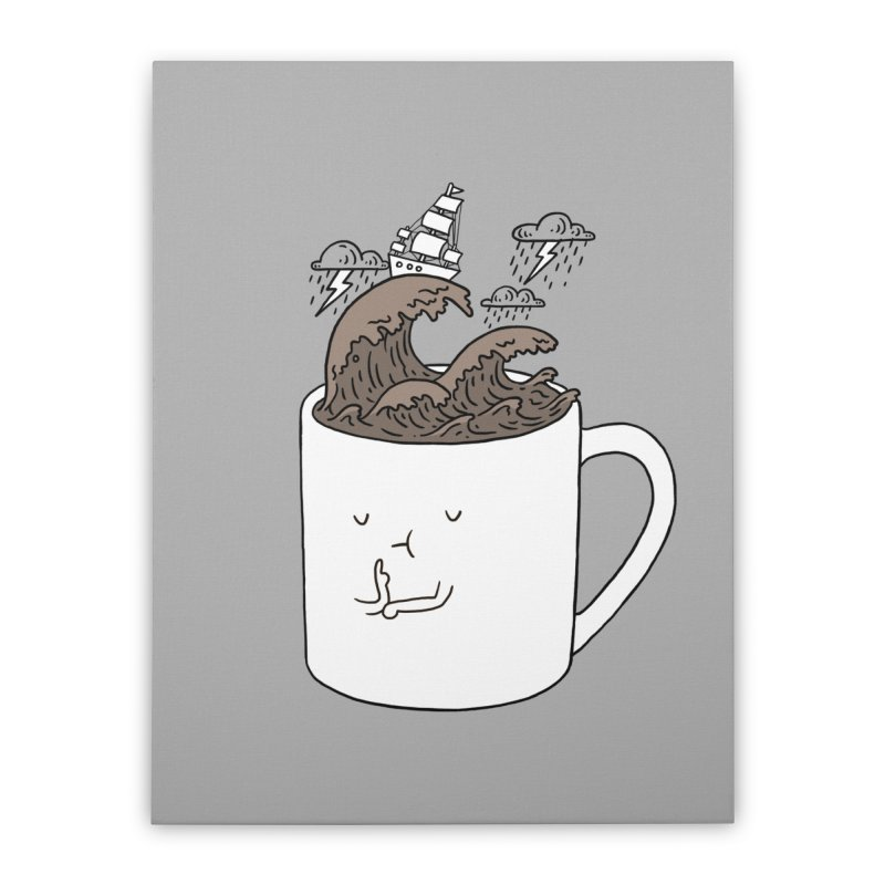 Brainstorming Coffee Mug Home Stretched Canvas by ilovedoodle's Artist Shop