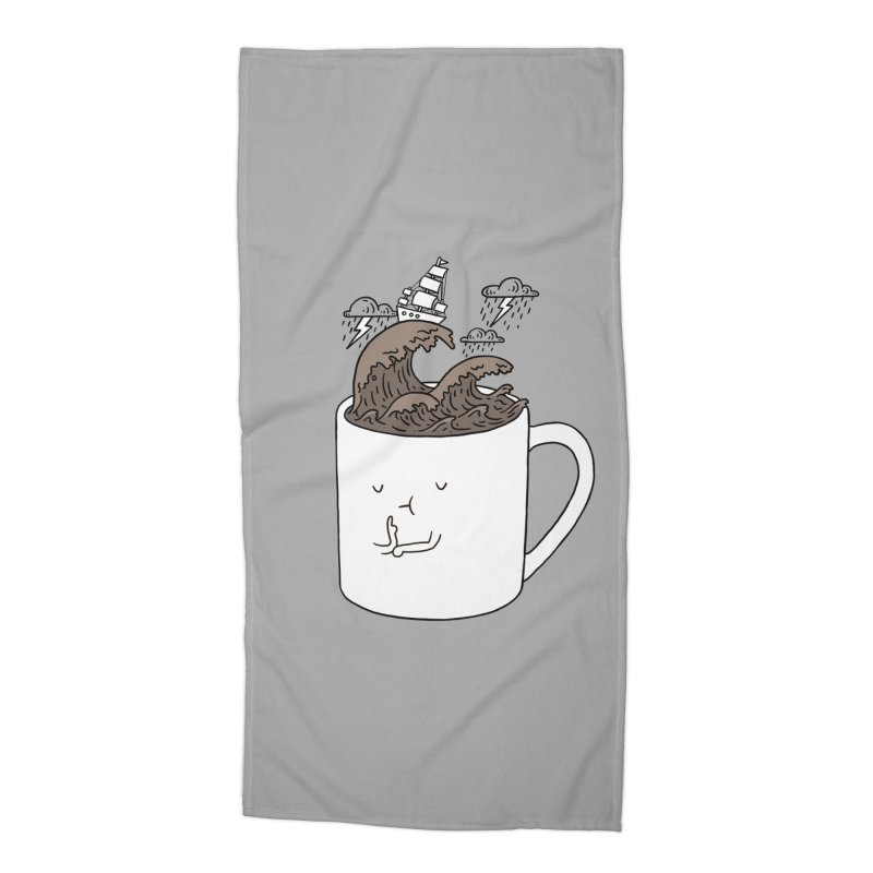 Brainstorming Coffee Mug Accessories Beach Towel by ilovedoodle's Artist Shop