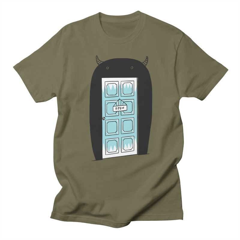 Monster Door Men's T-shirt by ilovedoodle's Artist Shop