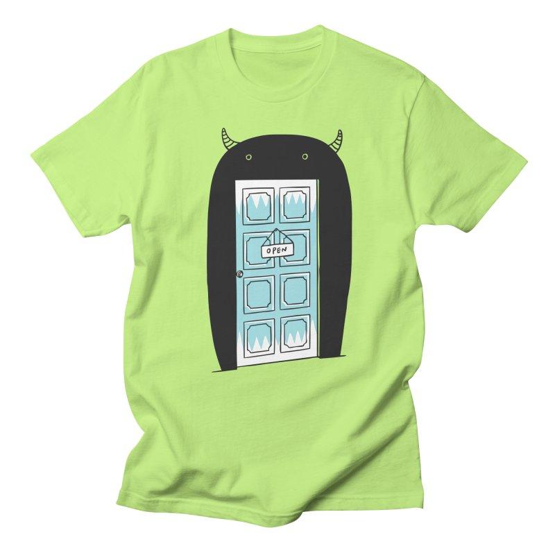 Monster Door Women's Unisex T-Shirt by ilovedoodle's Artist Shop