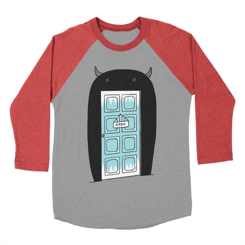 Monster Door Women's Baseball Triblend T-Shirt by ilovedoodle's Artist Shop