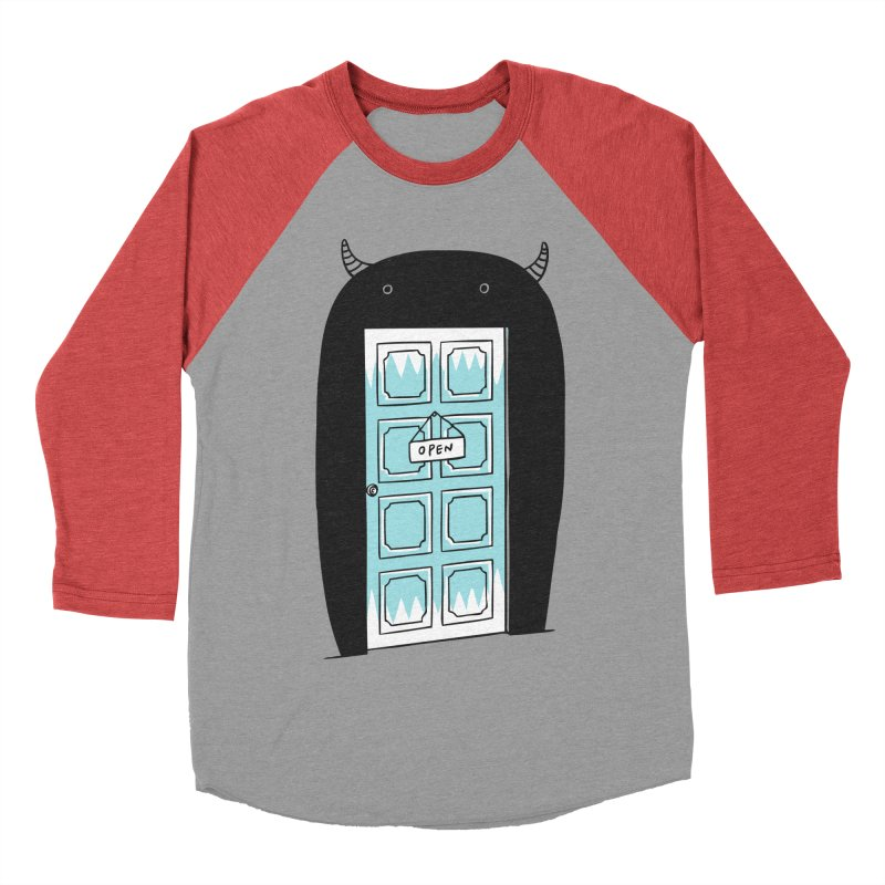 Monster Door Men's Baseball Triblend T-Shirt by ilovedoodle's Artist Shop
