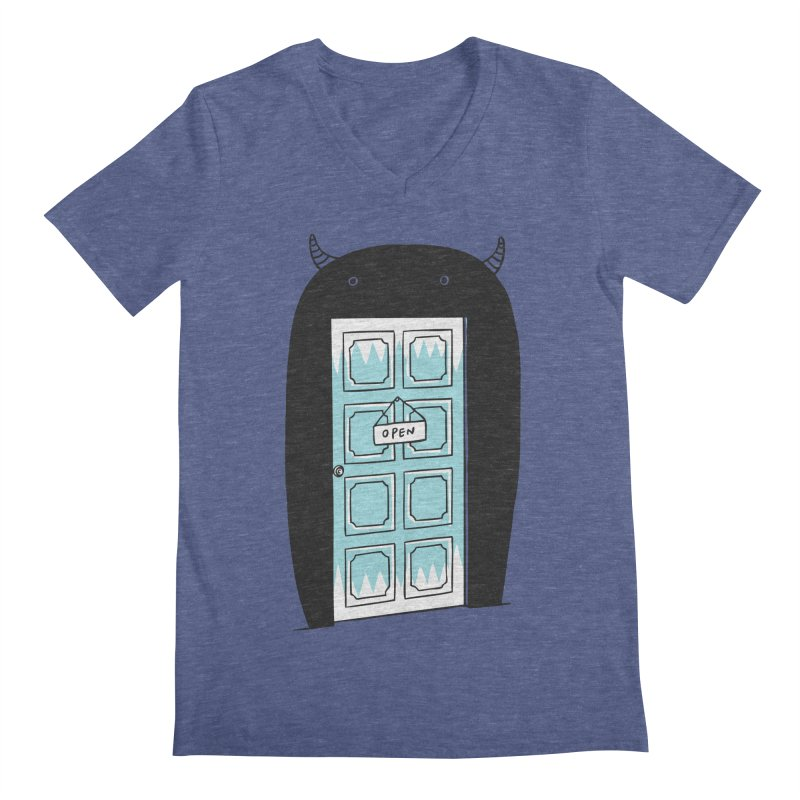 Monster Door Men's V-Neck by ilovedoodle's Artist Shop