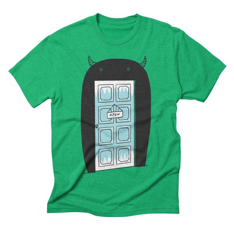 Monster Door Men's Triblend T-shirt by ilovedoodle's Artist Shop