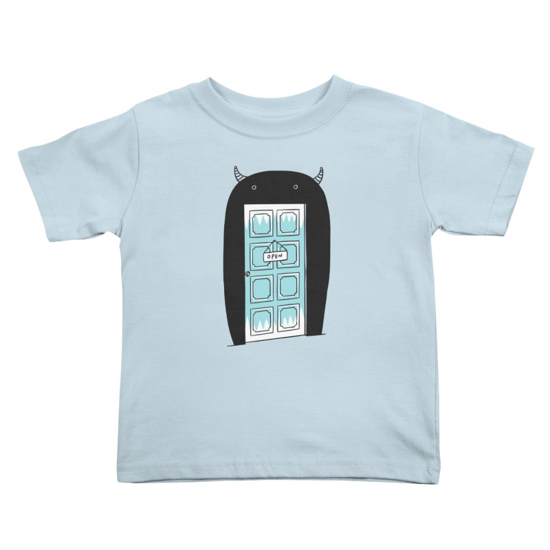 Monster Door Kids Toddler T-Shirt by ilovedoodle's Artist Shop