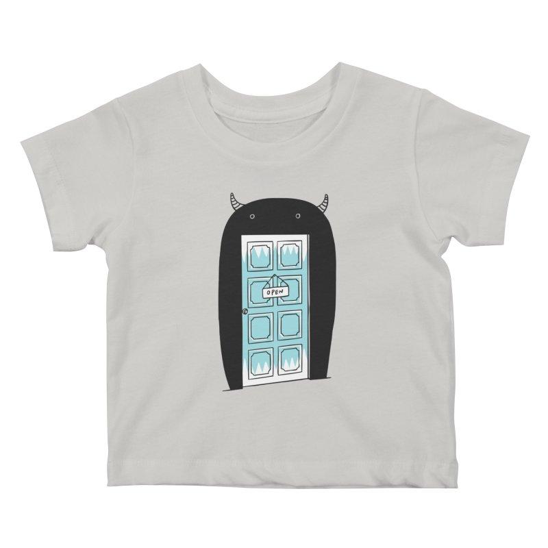 Monster Door Kids Baby T-Shirt by ilovedoodle's Artist Shop