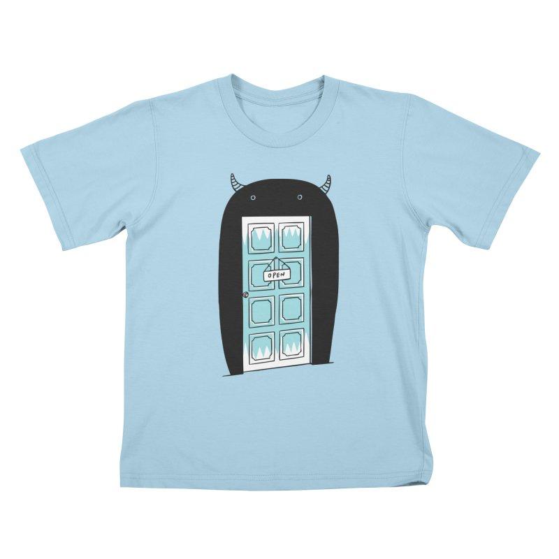 Monster Door Kids T-shirt by ilovedoodle's Artist Shop