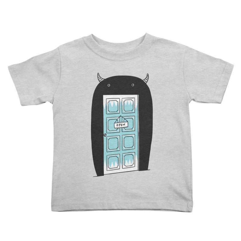 Monster Door Kids Toddler T-Shirt by ilovedoodle's Artist Shop