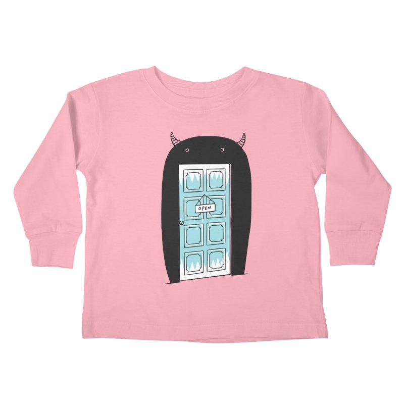 Monster Door Kids Toddler Longsleeve T-Shirt by ilovedoodle's Artist Shop