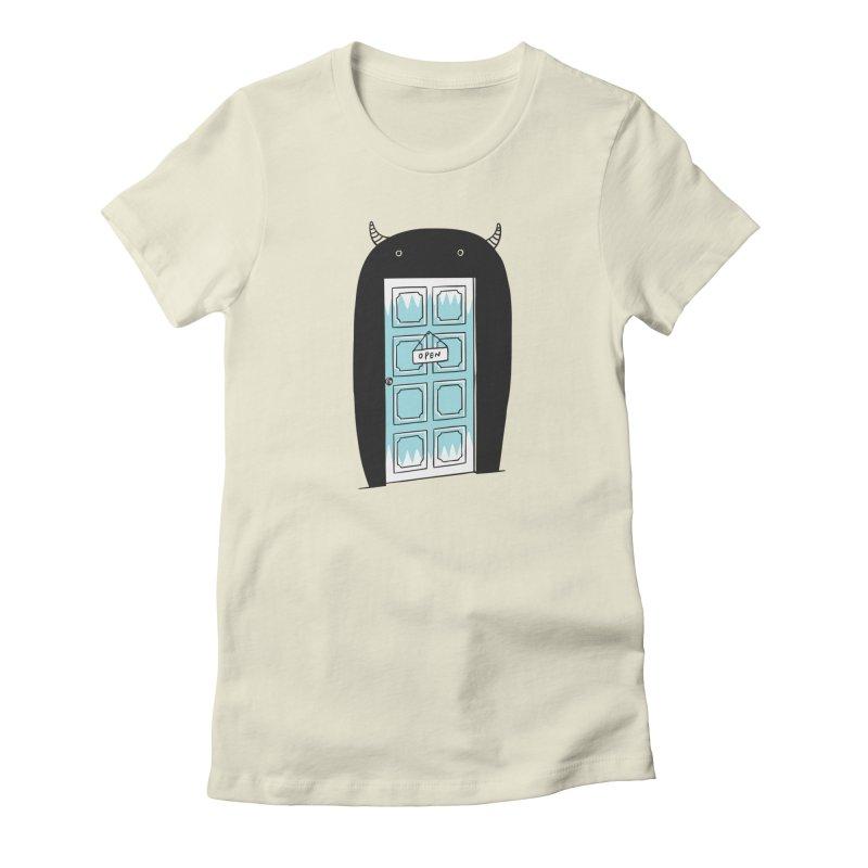 Monster Door Women's T-Shirt by ilovedoodle's Artist Shop