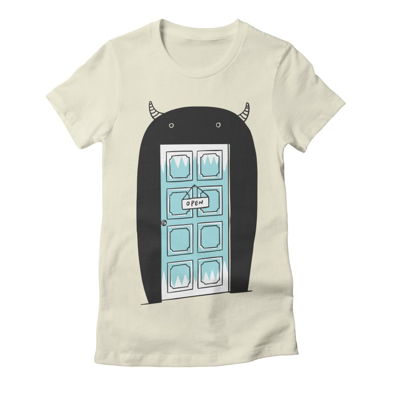 Monster Door Women's Fitted T-Shirt by ilovedoodle's Artist Shop