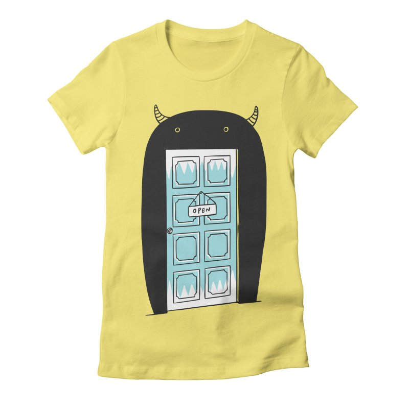 Monster Door Women's Fitted T-Shirt by ilovedoodle's Artist Shop
