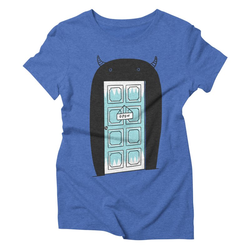 Monster Door Women's Triblend T-shirt by ilovedoodle's Artist Shop