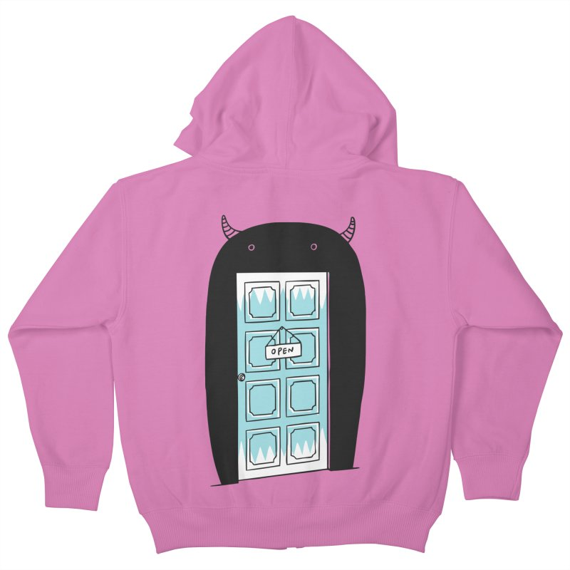 Monster Door Kids Zip-Up Hoody by ilovedoodle's Artist Shop