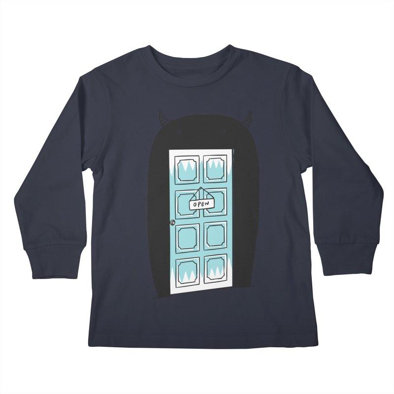 Monster Door Kids Longsleeve T-Shirt by ilovedoodle's Artist Shop