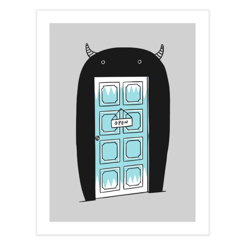 Monster Door Home Fine Art Print by ilovedoodle's Artist Shop