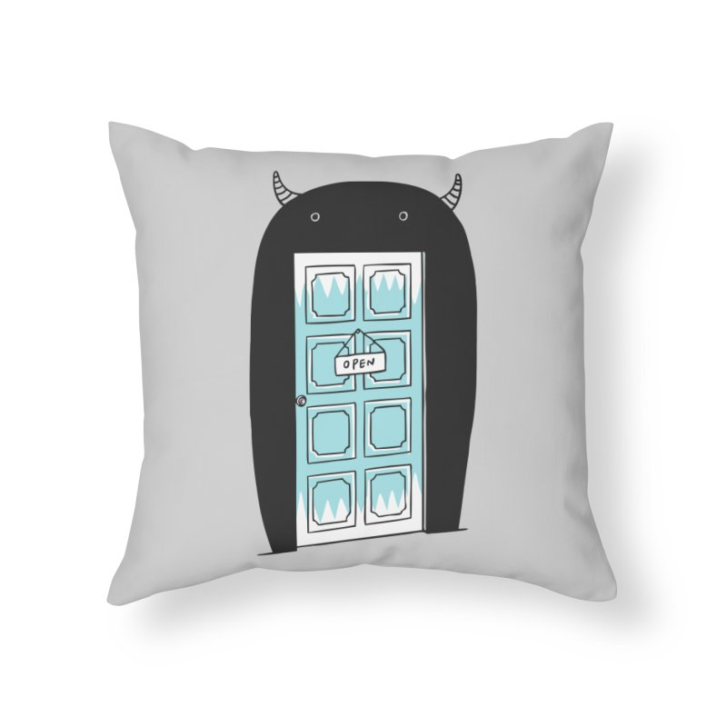 Monster Door Home Throw Pillow by ilovedoodle's Artist Shop