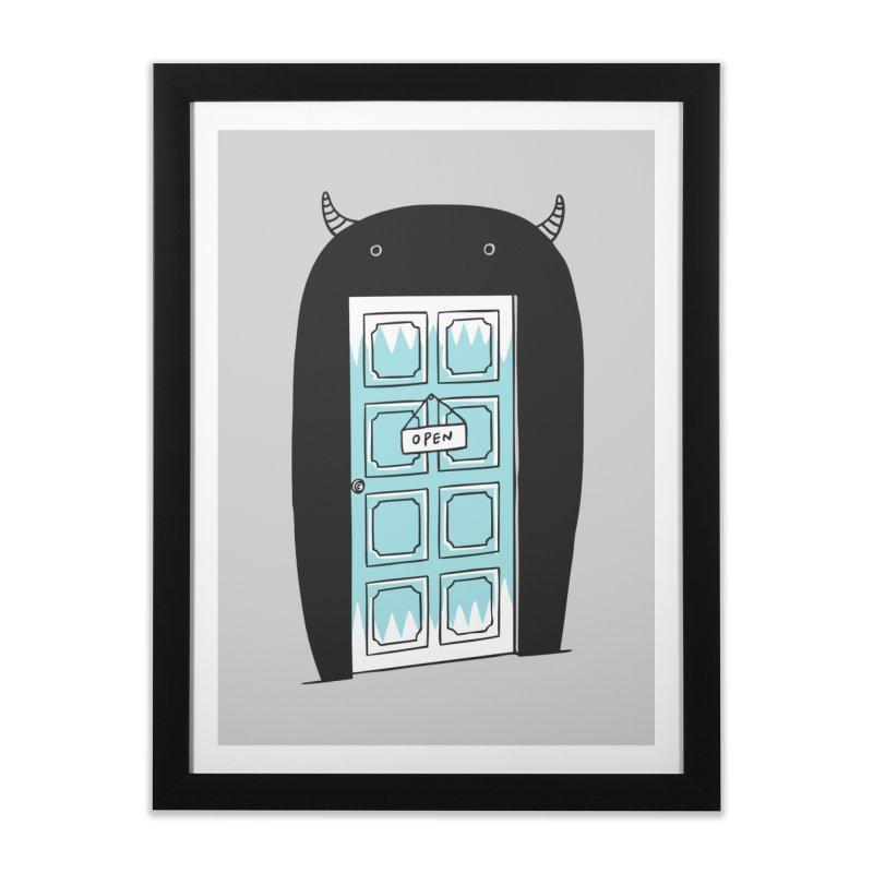 Monster Door Home Framed Fine Art Print by ilovedoodle's Artist Shop