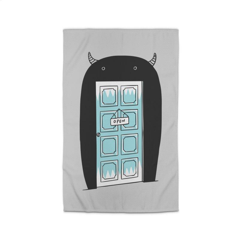Monster Door Home Rug by ilovedoodle's Artist Shop