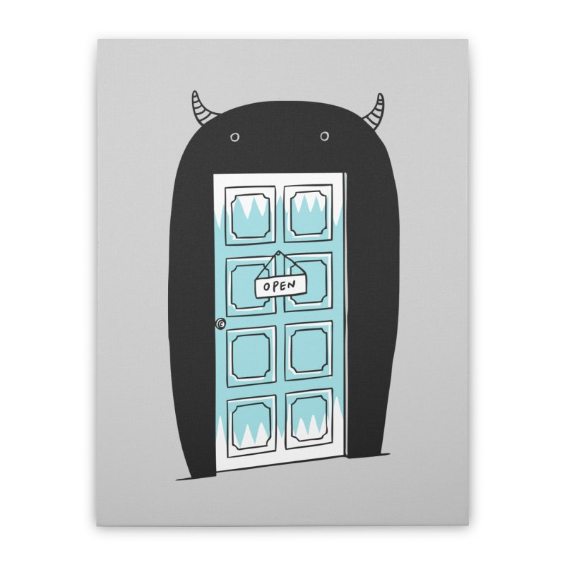Monster Door Home Stretched Canvas by ilovedoodle's Artist Shop