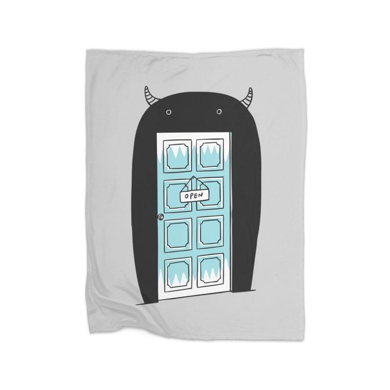 Monster Door Home Fleece Blanket by ilovedoodle's Artist Shop