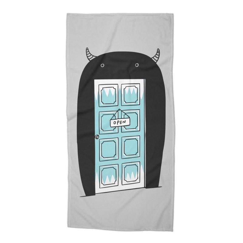 Monster Door Accessories Beach Towel by ilovedoodle's Artist Shop