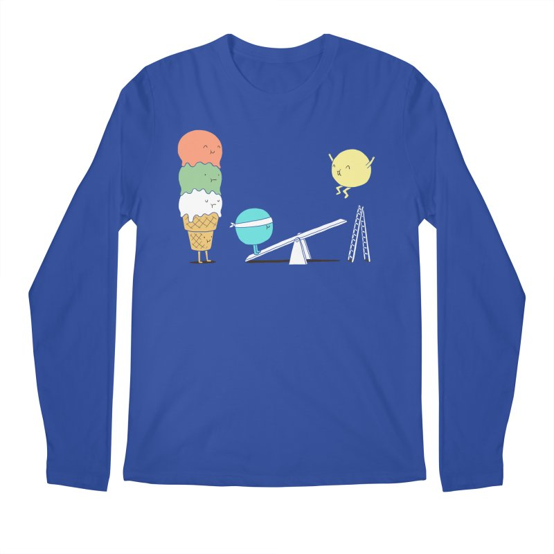 Acrobatic Ice Cream Men's Longsleeve T-Shirt by ilovedoodle's Artist Shop