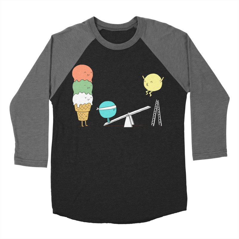 Acrobatic Ice Cream Men's Baseball Triblend T-Shirt by ilovedoodle's Artist Shop