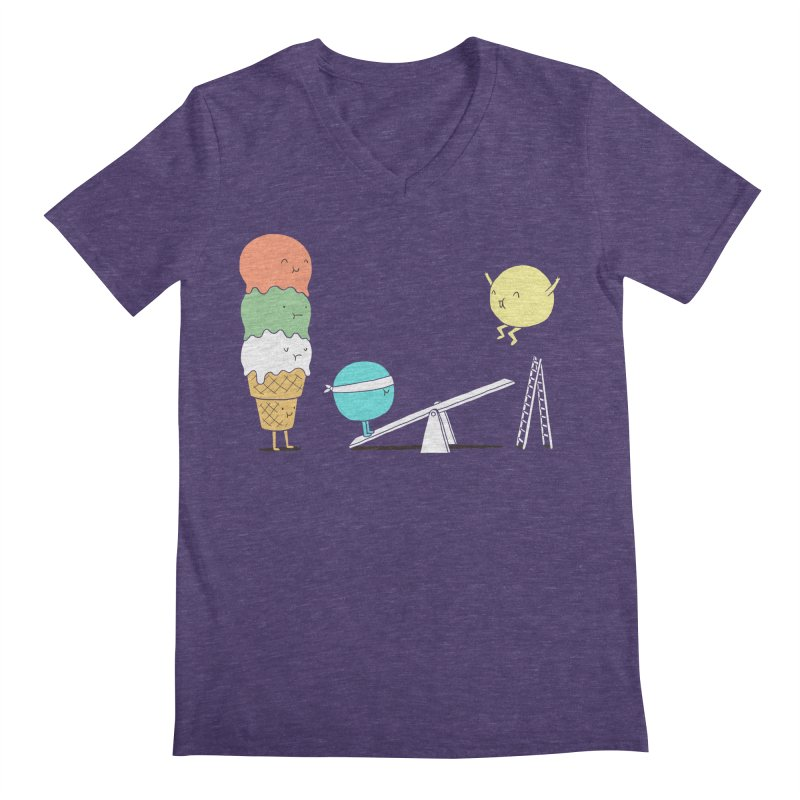 Acrobatic Ice Cream Men's V-Neck by ilovedoodle's Artist Shop