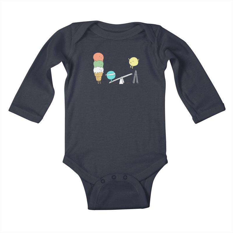 Acrobatic Ice Cream Kids Baby Longsleeve Bodysuit by ilovedoodle's Artist Shop