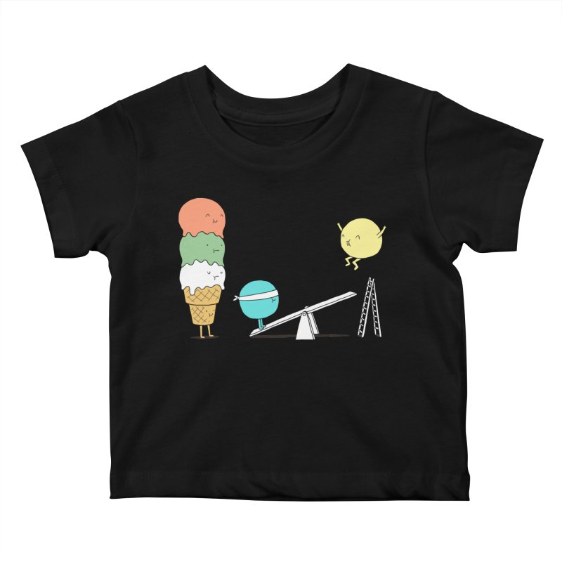 Acrobatic Ice Cream Kids Baby T-Shirt by ilovedoodle's Artist Shop