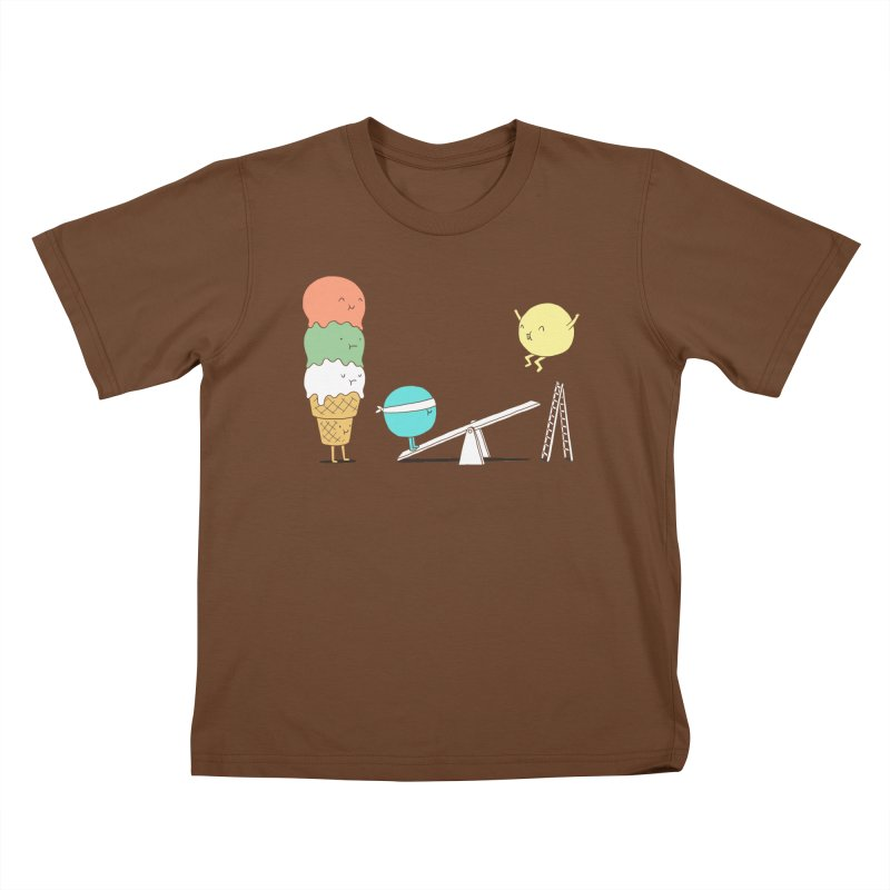 Acrobatic Ice Cream Kids T-shirt by ilovedoodle's Artist Shop