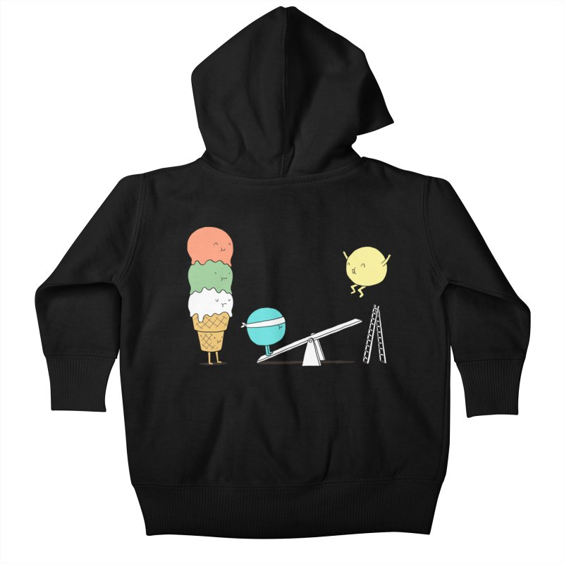 Acrobatic Ice Cream Kids Baby Zip-Up Hoody by ilovedoodle's Artist Shop
