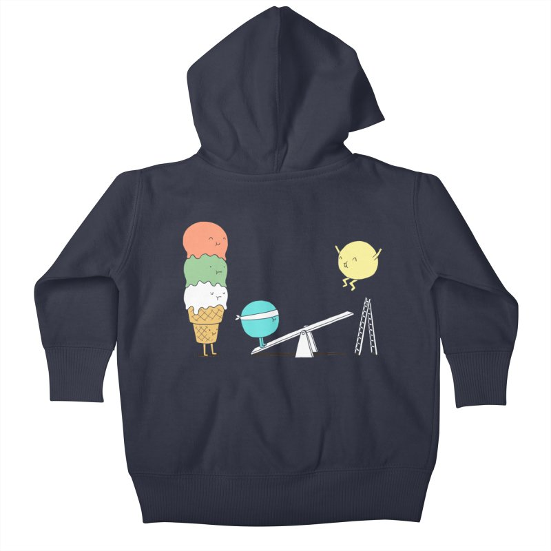 Acrobatic Ice Cream Kids Baby Zip-Up Hoody by ilovedoodle's Artist Shop