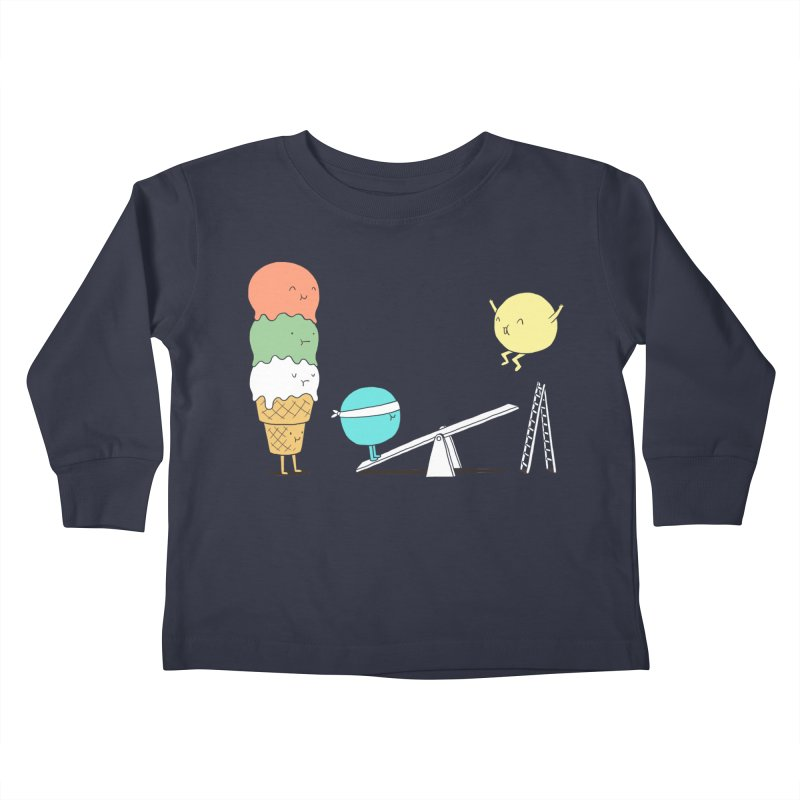 Acrobatic Ice Cream Kids Toddler Longsleeve T-Shirt by ilovedoodle's Artist Shop