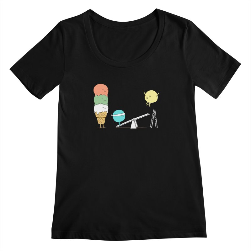 Acrobatic Ice Cream Women's Scoopneck by ilovedoodle's Artist Shop