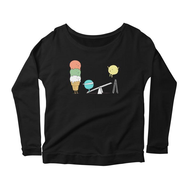 Acrobatic Ice Cream Women's Longsleeve Scoopneck  by ilovedoodle's Artist Shop