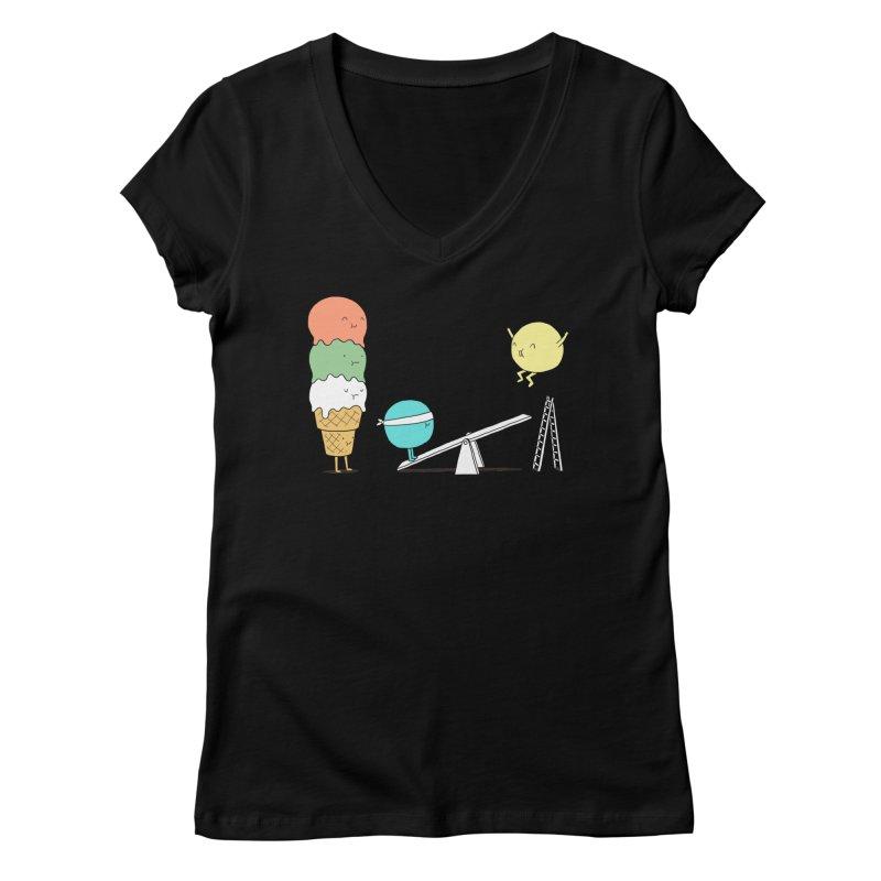 Acrobatic Ice Cream Women's V-Neck by ilovedoodle's Artist Shop