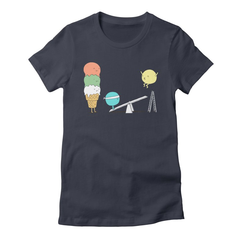Acrobatic Ice Cream Women's Fitted T-Shirt by ilovedoodle's Artist Shop
