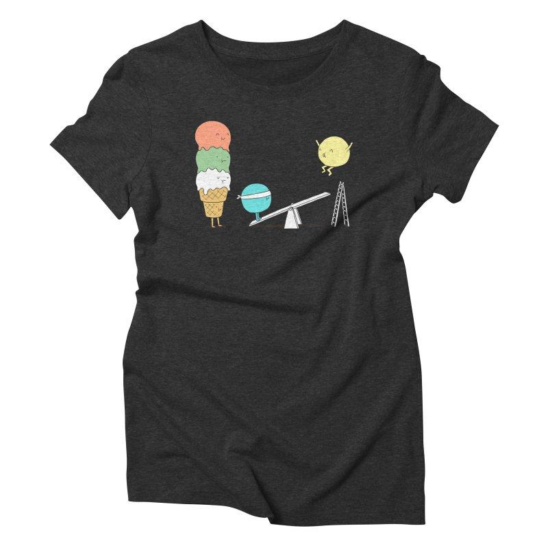 Acrobatic Ice Cream Women's Triblend T-shirt by ilovedoodle's Artist Shop