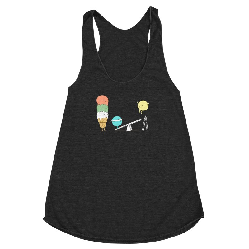 Acrobatic Ice Cream Women's Racerback Triblend Tank by ilovedoodle's Artist Shop