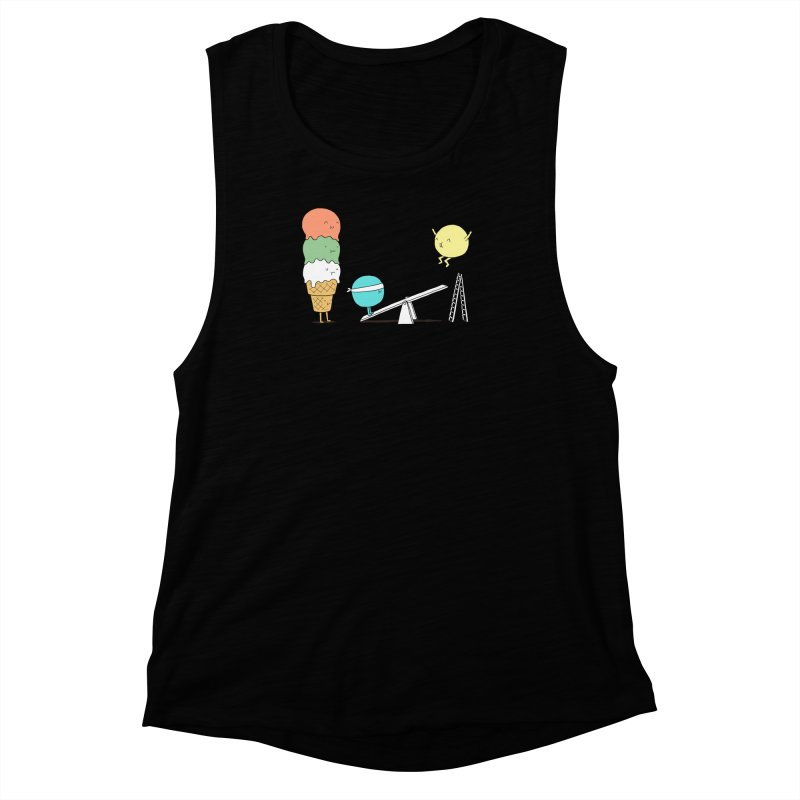Acrobatic Ice Cream Women's Muscle Tank by ilovedoodle's Artist Shop