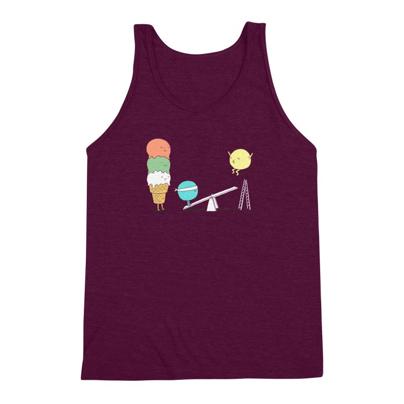 Acrobatic Ice Cream Men's Triblend Tank by ilovedoodle's Artist Shop