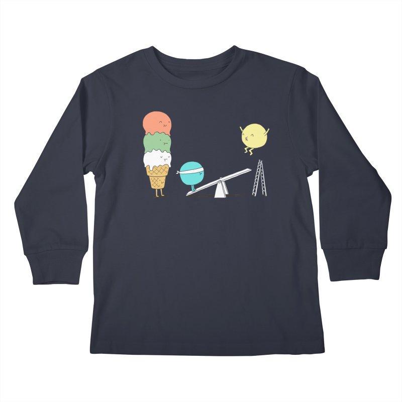 Acrobatic Ice Cream Kids Longsleeve T-Shirt by ilovedoodle's Artist Shop