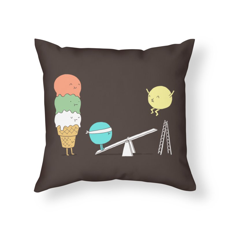 Acrobatic Ice Cream Home Throw Pillow by ilovedoodle's Artist Shop