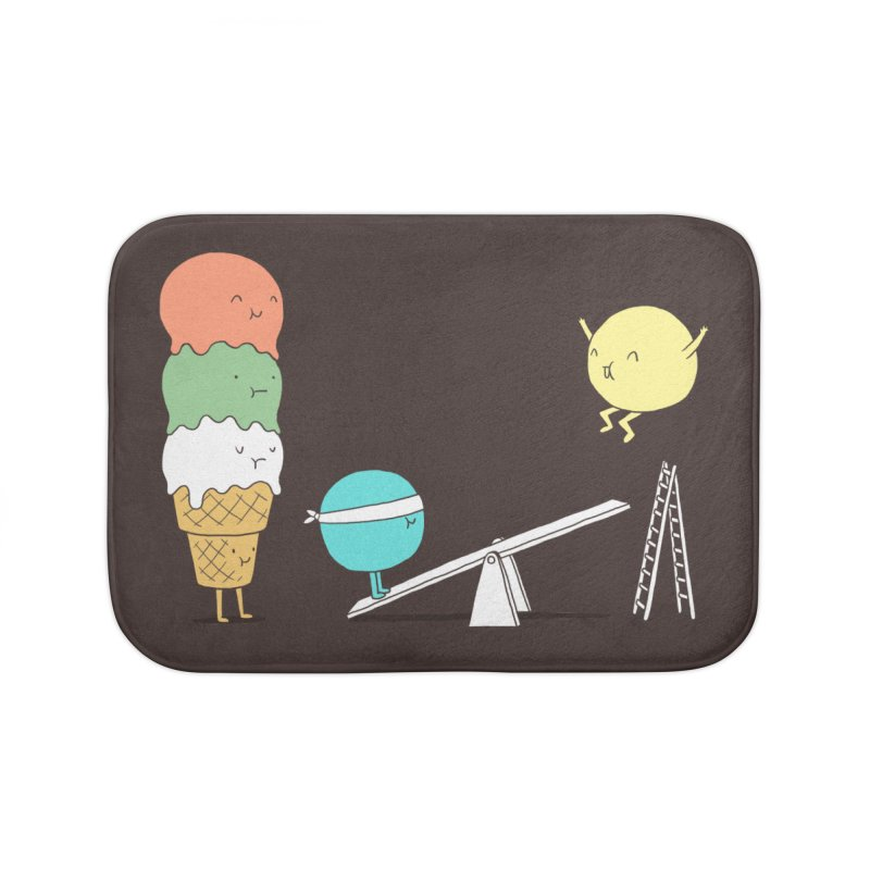 Acrobatic Ice Cream Home Bath Mat by ilovedoodle's Artist Shop