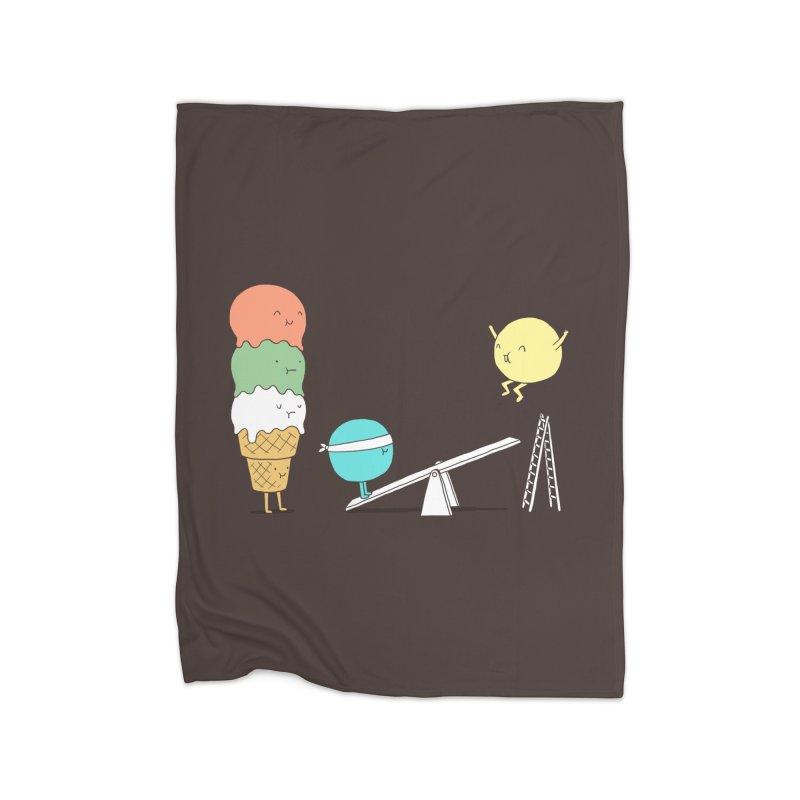 Acrobatic Ice Cream Home Fleece Blanket by ilovedoodle's Artist Shop