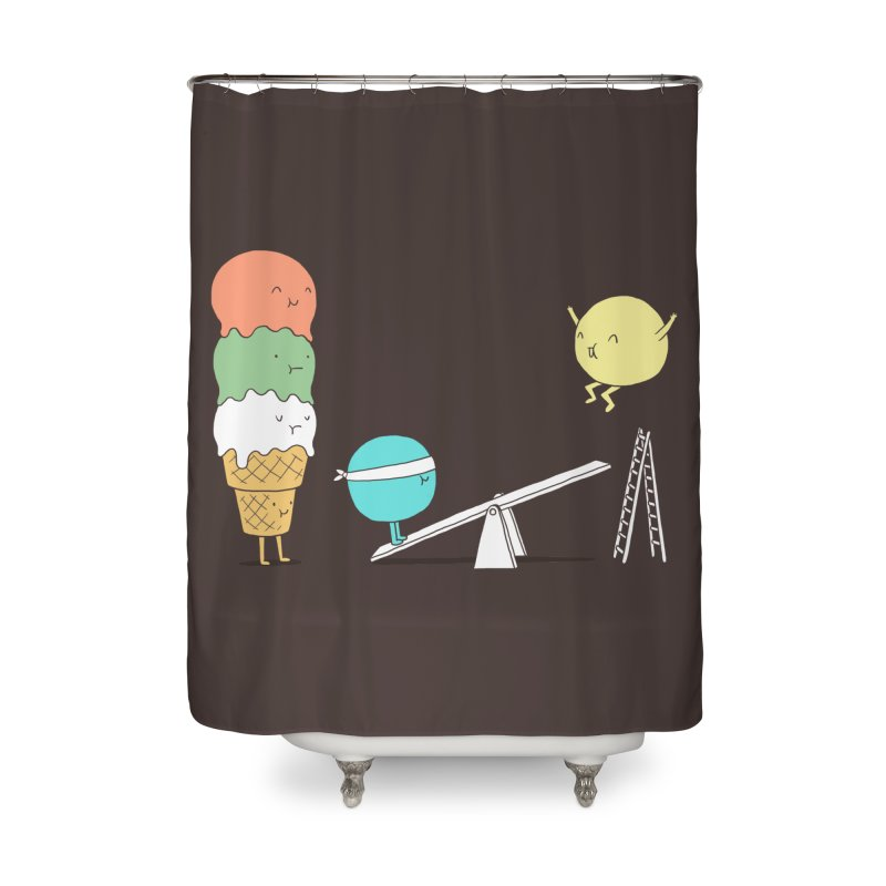 Acrobatic Ice Cream Home Shower Curtain by ilovedoodle's Artist Shop
